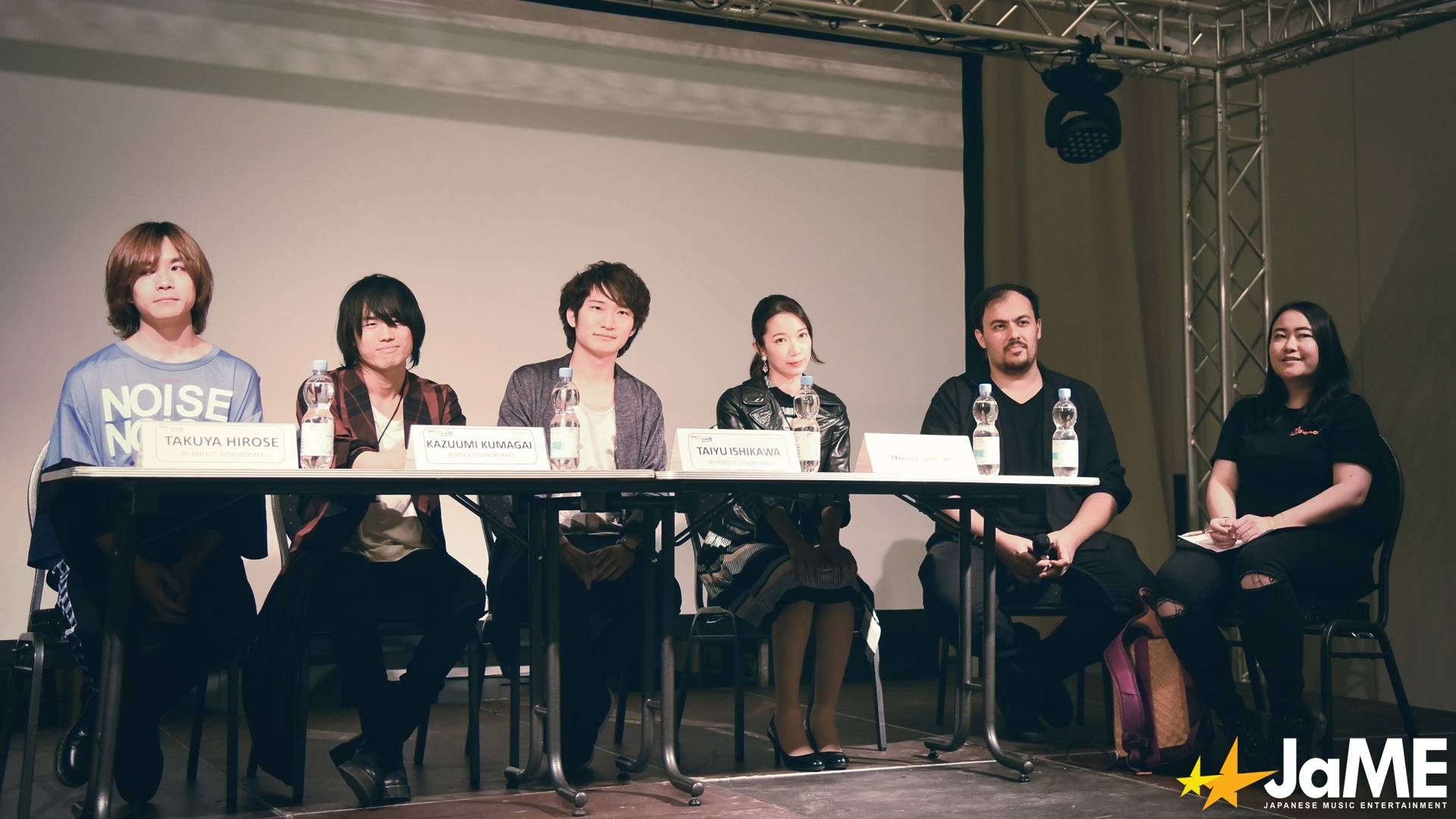 Frage-Antwort-Runde mit BURNOUT SYNDROMES und Sawai Miku