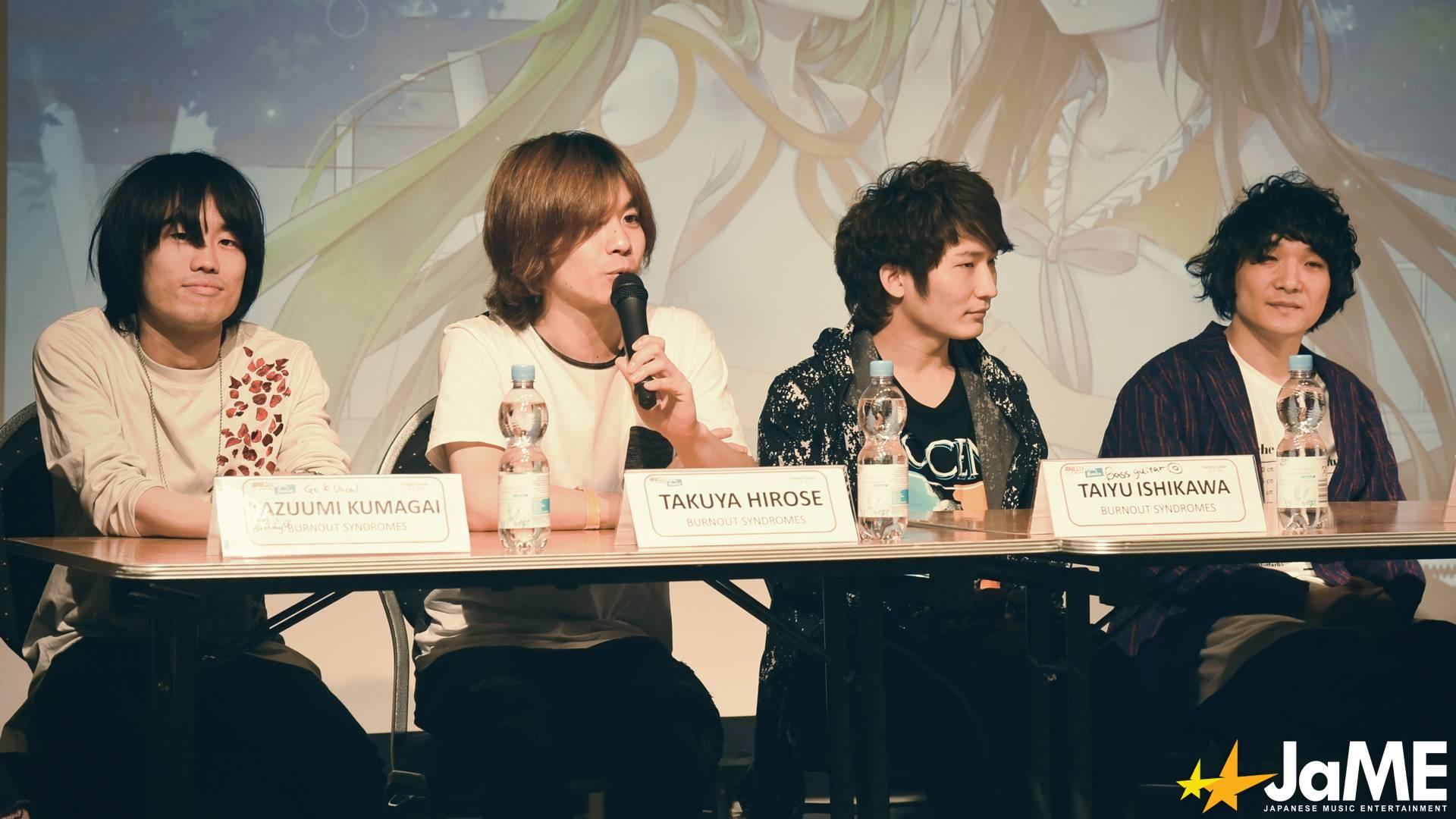 BURNOUT SYNDROMES und Ishizwaki Huwie beim letzten Q&A der Animesse 2019
